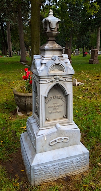 Samuel Merrill was born in England in 1805 and died in Pleasant Dale, Nebraska in 1884.