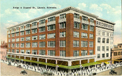 Postcard of Lincoln's Rudge & Gunzel Department Store, which closed in 1942. Charles H. Rudge died in 1921. He injured his hand while working on one of his properties in Minnesota and it became infected.