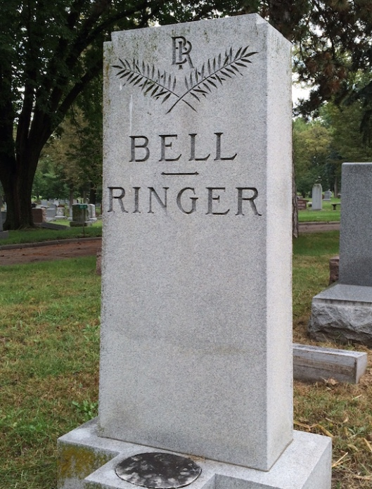 "Jane ""Jennie"" Bell added ""Ringer"" to her name when she married her husband, Frank Ringer."