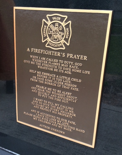 The author of A Firefighter's Prayers is unknown.