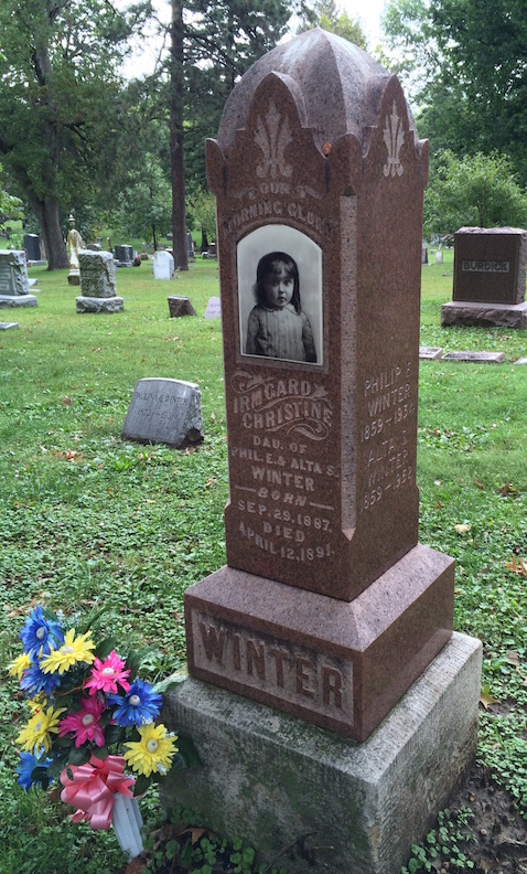Christine Winter did not make it to her fifth birthday due to diphtheria.