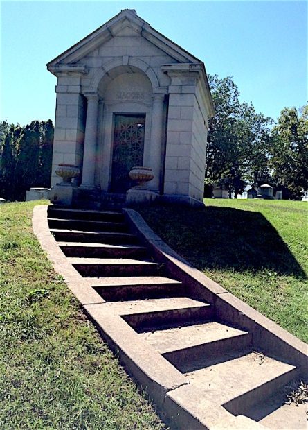 The Jacobs mausoleum has four people interred inside but only one is a Jacobs.