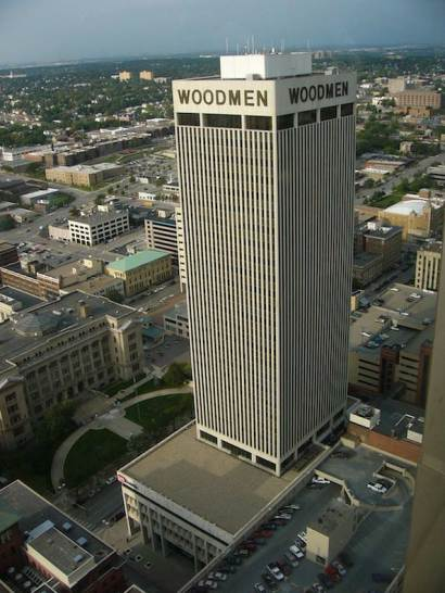 The Woodmen Tower was built in 1969 and is 30 storeys high.