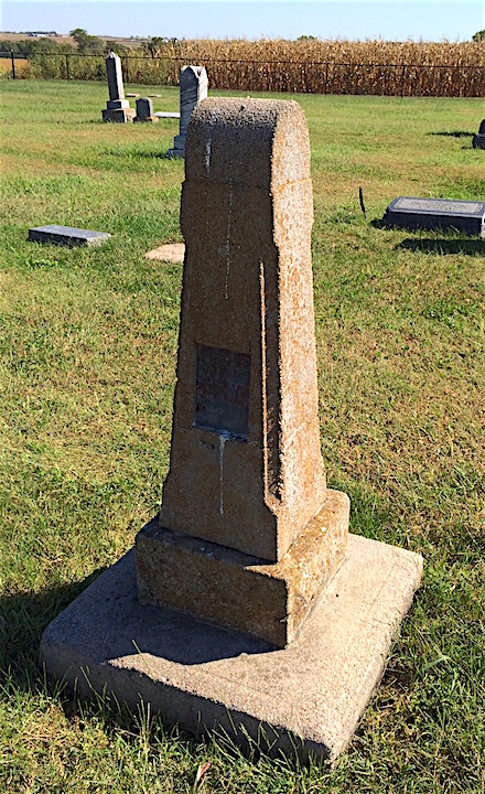 Clarinda Cooper's marker is a bit more roughly made than others.