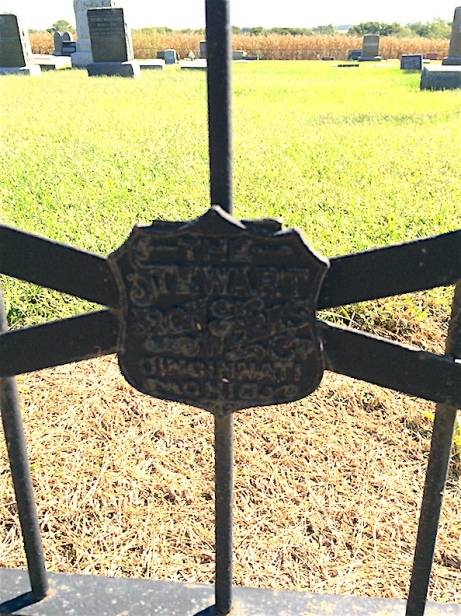 It's a safe bet that if you're in an old cemetery, odds are you'll find Stewart Iron Works fencing somewhere.