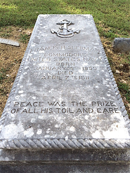 Commodore Francis Sherman retired as one of the Navy's last Commodores in 1901.