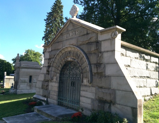The architects of the Burnes mausoleum were Harvey Ellis and George Mann.
