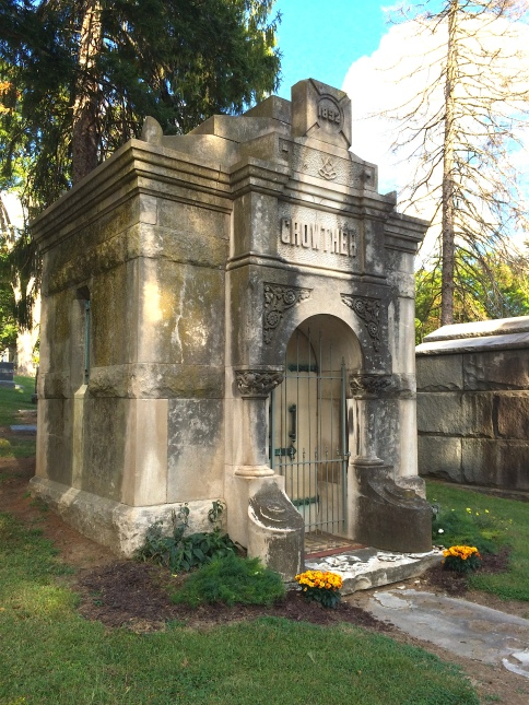 The Crowther and Self mausoleums are almost identical.
