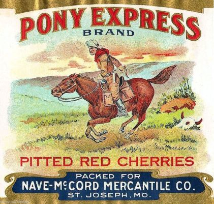 An ad for cherries one could purchase through the Nave-McCord Mercantile Company. Photo source: eBay.