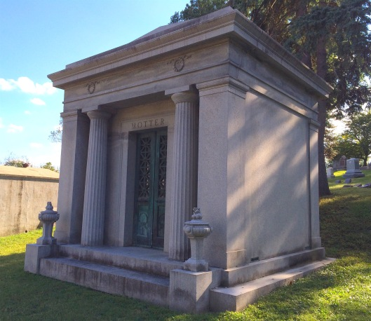 While the Motter Mausoleum's architect is unknonw, Eckles & ? designed the Motter's home on 10th Street in Saint Joseph.