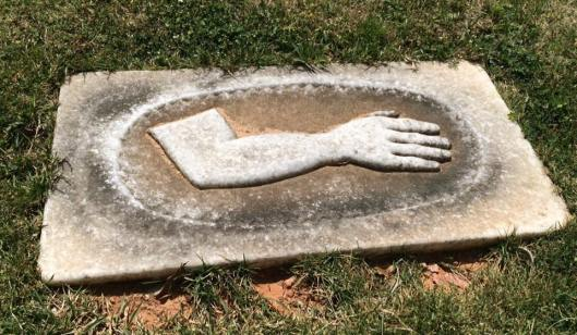 I can honestly say I've never seen a grave marker for a body part before.