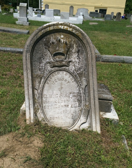 The grave of Clarence E. Chafee is located in Friendly Union Society Cemetery. He died of consumption (tuberculosis) at the age of 23, already having established himself as a photographer.