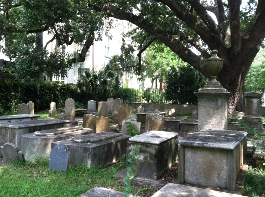 When most people think of Charleston cemeteries, this image from the Circular Congregational Church is what comes to mind.