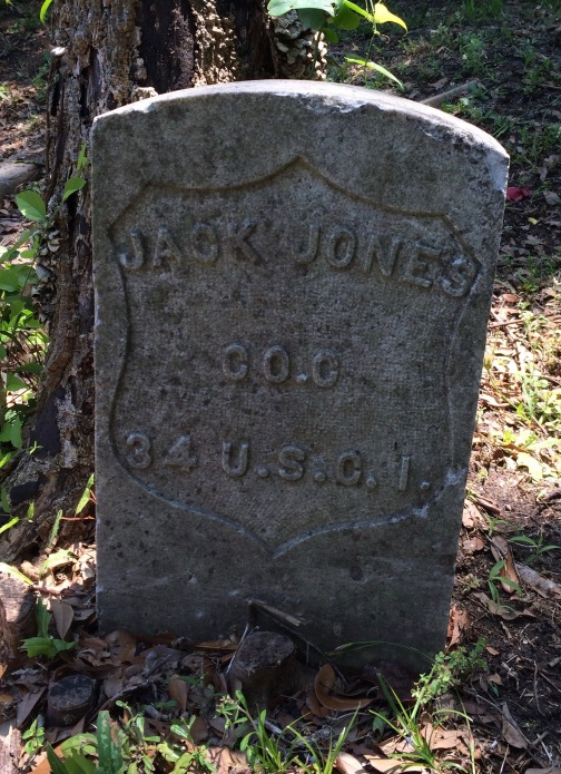 The grave of Jack Jones is special because it's the first I've ever seen for an African-American Civil War veteran.