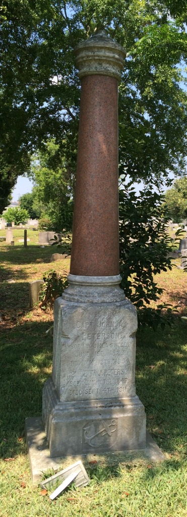 How did a white sea captain end up buried in a black cemetery?