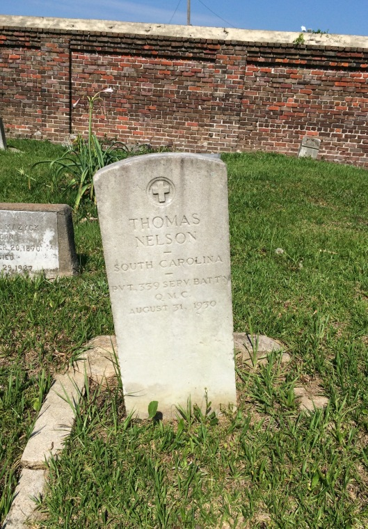 Thomas Nelson is one of several veterans buried at Morris Brown AME Church Cemetery.