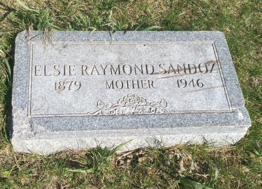 Elsie Raymond Sandoz was related to the Sandoz family by marriage. She was a patient at the NRC at the same time as Jules Sandoz' second wife, Henriete.
