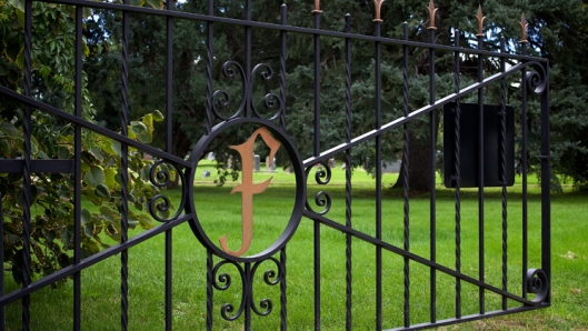 Entrance gate to Fairmount Cemetery. Photo source: Fairmount Cemetery and Crematorium.