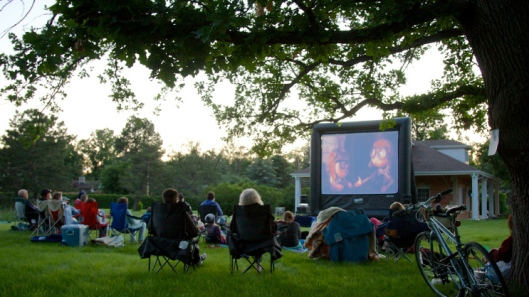 Fairmount Cemetery recently added movie nights to their event schedule. They were hosting a screening of