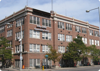 The Emily Griffith Opportunity School (named that upon her retirement in 1933) is still part of the Denver Public School System operating as the Emily Griffith Technical College as an alternative high school.