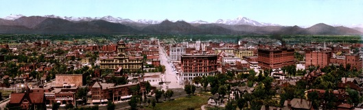 Photo of Denver from 1898, source: Wikimedia Commons.