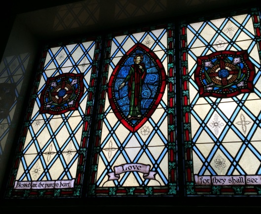 This is just one of many exquisite examples of the stained glass at Fairmount's Mausoleum.