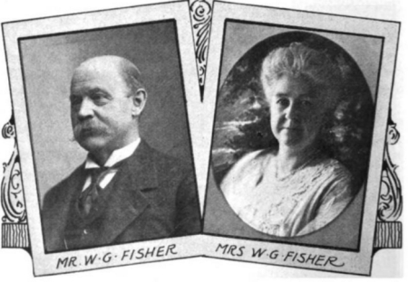 Photos of William Garrett Fisher and his wife, Mary Frances Cherry Fisher.
