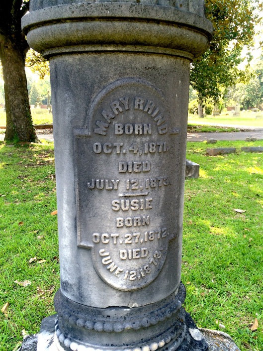 Sisters Mary and Susie Barrett died within exactly a month of each other in 1873.