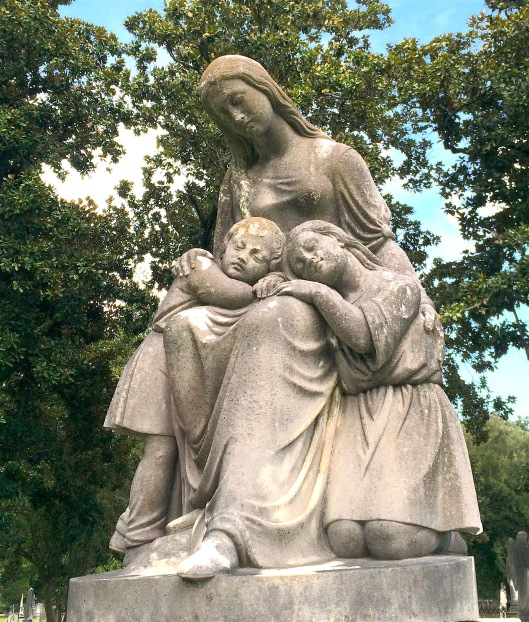 Anne Milledge Smith Boswell died at the age of 38. The identity of the two children at her knees is unknown.