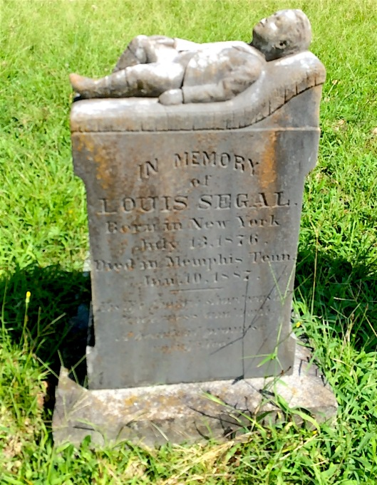 Louis Segal did not live to see his 11th birthday when he died in Memphis, Tenn. in 1887.