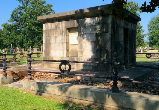I'm actually more impressed with the wrought iron fence that encircles Wylly Barron's mausoleum than the tomb itself.