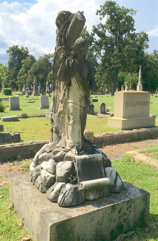 Ella Camden Jackson Smith died at the young age of 24. Her husband contracted with Muldoon & Co. in Louisville, Ky. to create her monument.