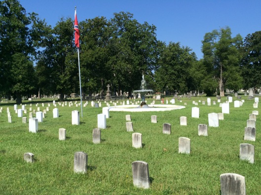 Approximately 337 graves make up the Confederate section of Magnolia Cemetery.
