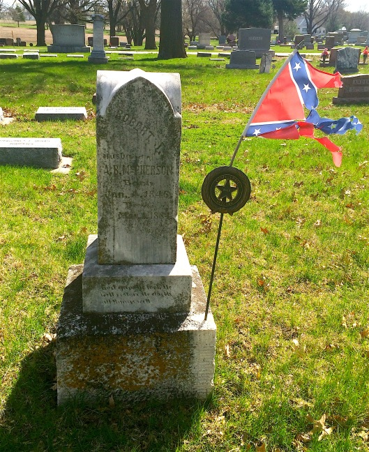 What is a Confederate grave marker doing in Nebraska?