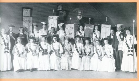 One of the many Royal Neighbors of America members at a conference. This picture was taken of a group in Dorrance, KS in May 1910. (Photo source: Kristin Waitkus McDaniel)