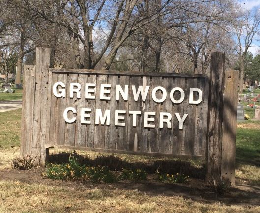 I often forget to photograph the cemetery sign but this time I remembered.