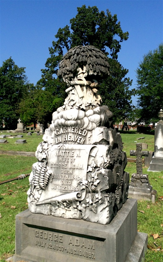 George Adam had Muldoon & Co. make this monument after the death of his wife, .