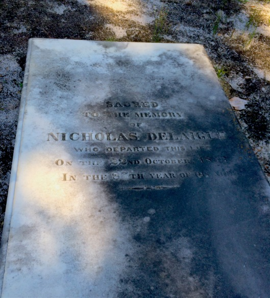 Nicolas Delaigle is buried beside his wife, Marguerite, who died a few years before he did.