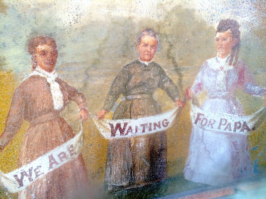 For many years, no one knew the identity of the three women portrayed in this painting on tin.