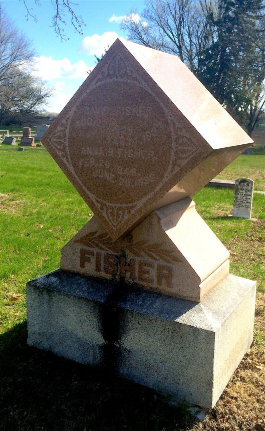 The Fisher monument is a good example of what most cube-style markers look like.