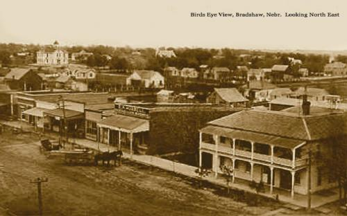 A view of Bradshaw, probably from the early 1900s.